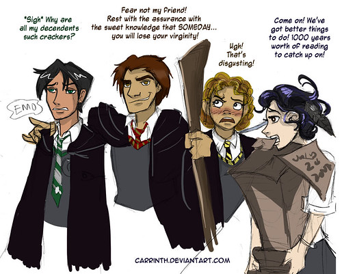 Random Hogwarts Students by carrinth