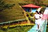 Lovers in Paradise (MarorieS) Tags: bridge mountain couple lovers cebu islandinthesky prenuptials prenup balamban mykindofpicturegallery anjospoint marories marosariosanchez