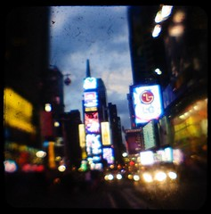 Everything is on (Ciel Rouge) Tags: nyc signs neon traffic timessquare kodakduaflexii urbanlights ttv