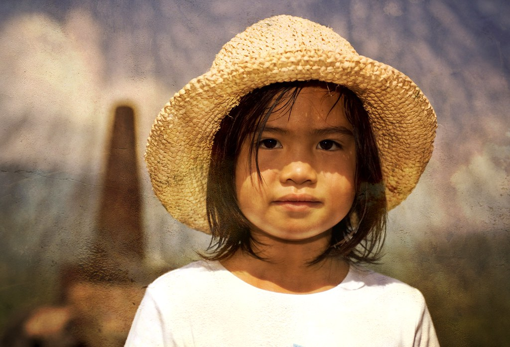 Indonesian Girl with Hat