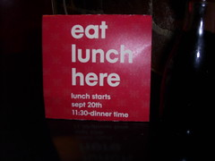 eat lunch here