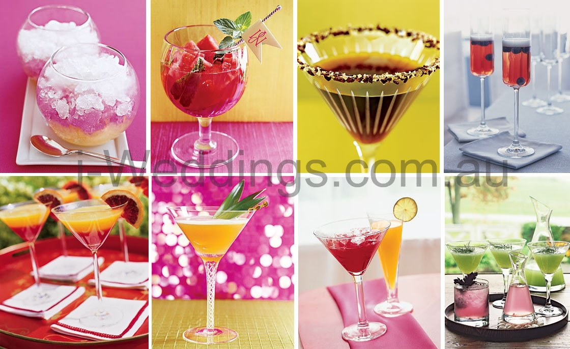 iLoveThese coloured cocktails