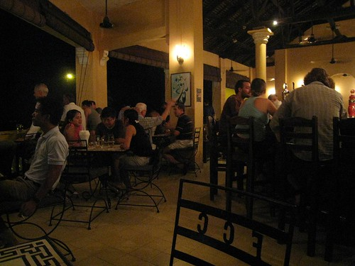 Dining at the Foreign Correspondent's Club (FCC) in Phnom Penh