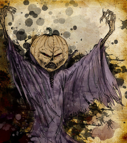 Tobin's Spirit Guide - peek ::  Samhain    ..art by Trist Jones for Cereal Geek (( 2008 ))