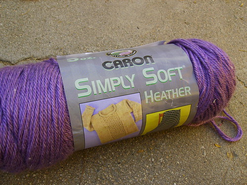 Simply Soft Yarn- Purple