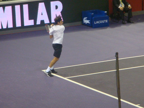 Partido Federer y Del Potro
