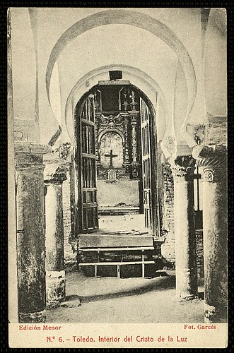 Mezquita del Cristo de la Luz (Toledo), a principios de siglo. Foto Garcés 1910