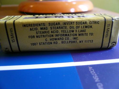 Lemon Mints ingredients