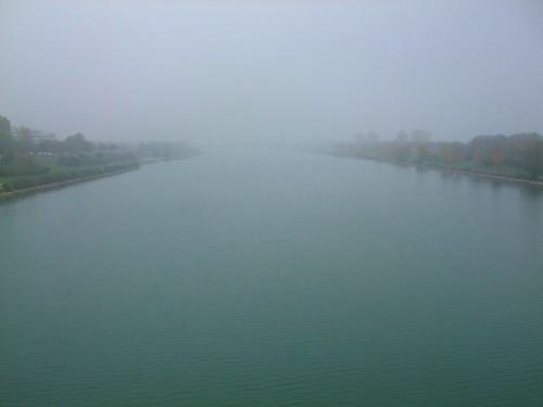 Danube in fog