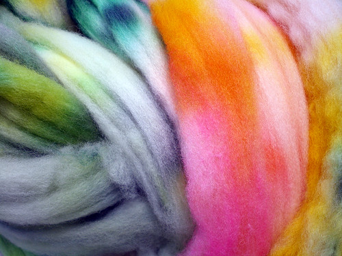 Autumn Gourds Colorway Hand-Dyed Superfine Merino Wool Roving (Three)
