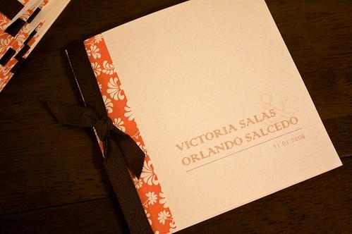 Victoria & Orlando Wedding Program