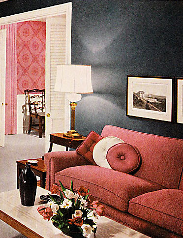 BH&G 1961 - Pink & Gray Living Room