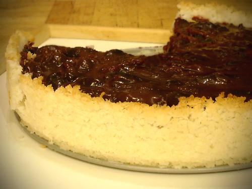 Cherry Macaroon Tart
