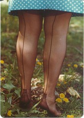tiptoe on the...weeds (seamz4evr) Tags: feet stockings outdoors soles fully nylons fashioned seams seamed