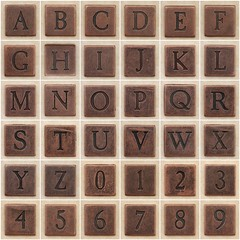Copper square uppercase letters and numbers (Leo Reynolds) Tags: fdsflickrtoys photomosaic copper alphabet alphanumeric abcdefghijklmnopqrstuvwxyz coppersquare abcdefghijklmnopqrstuvwxyz0123456789 hpexif groupphotomosaics mosaicalphanumeric xratio11x xleol30x xphotomosaicx