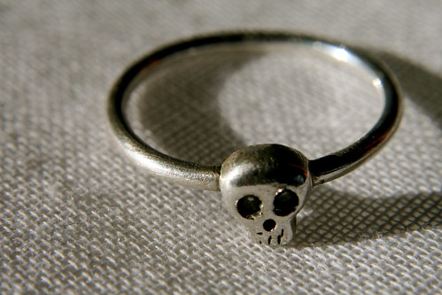 Babyskull ring by Michelle Chang