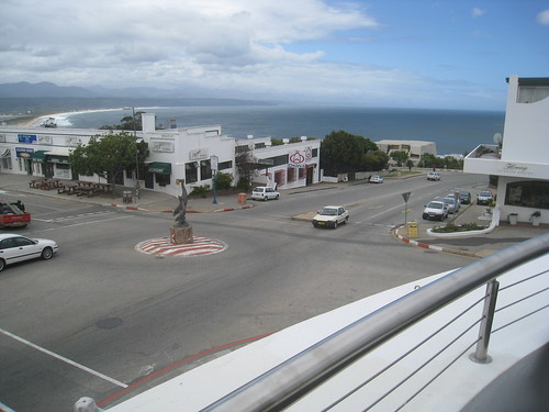 View of Plettenberg Bay from a swanky restaurant terrace