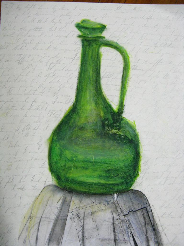 Green Vase Still Life