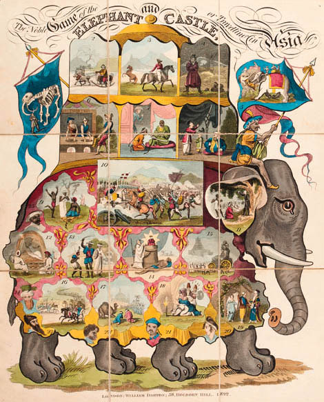 The Noble Game of the Elephant and Castle or Travelling in Asia 1822 (Christies)