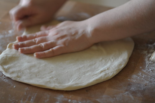 Flattening out the dough