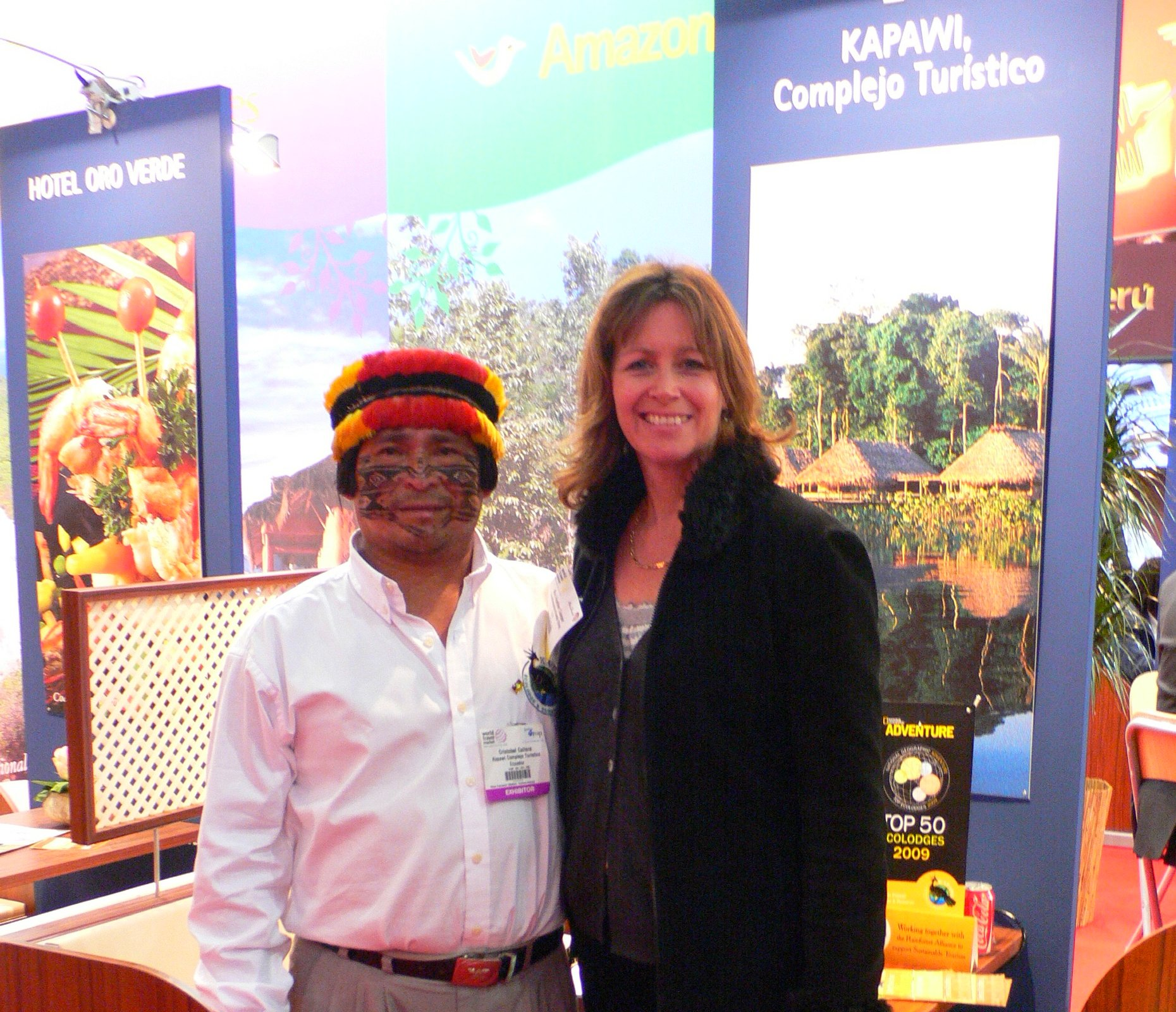 On the Kapawi stand at the World Travel Market, London