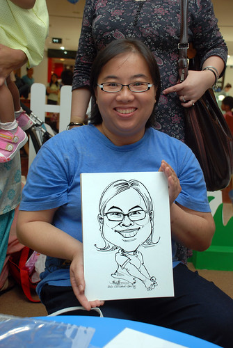caricature live sketching for West Coast Plaza day 1 - 23