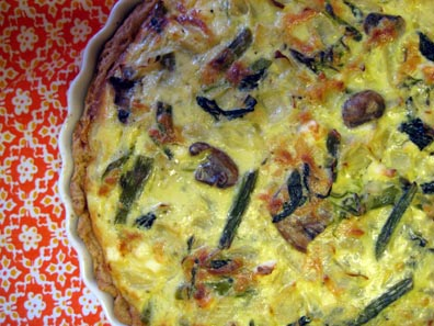 Vegetable Quiche for Julian's Birthday