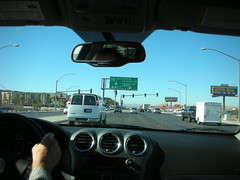 Sign - Turn Left for McCarran Rent-a-Car Cente...
