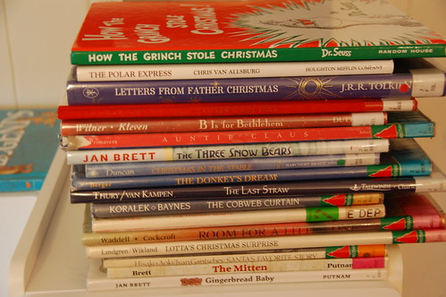 Christmas Books up close