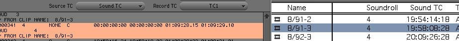 Sound TC is 19:58:08:28 in the bin, but it comes up as 00:00:00:00 in EDL Manager.