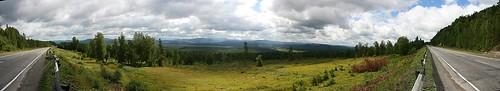Panoramic South Ural mountains