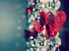 Look into your heart and you'll find love (Crazy Princess) Tags: red macro love focus heart crystal explore explored crazyprincess