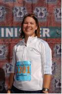 duke city half marathon finish