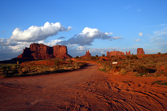 Evening in Monument Valley..... (Jay Tilston) Tags: light red arizona monument sand low nation az dirt valley navajo dust