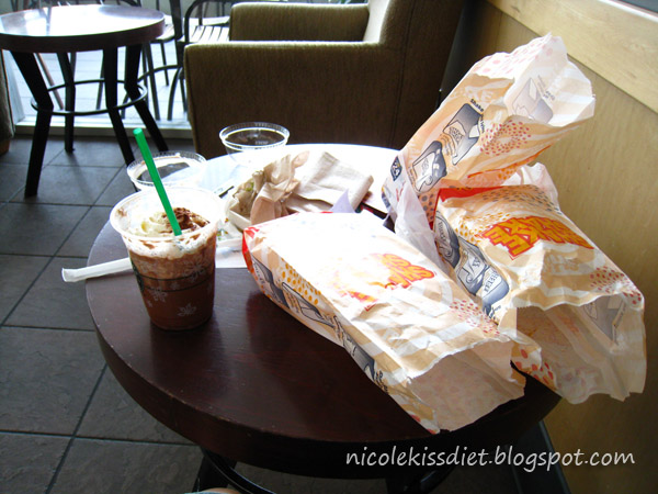 mcd and starbucks for lunch