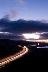 saddleworth_06 (Ben Pearey) Tags: light sunset west motorway yorkshire trails moor pennines m62 saddleworth bppnight