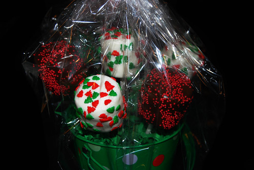 holiday marshmallow bouquet