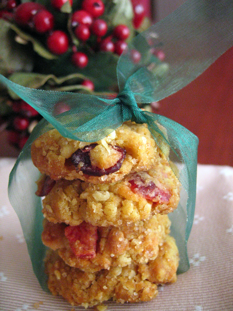 White Chocolate and Dried Cranberry Cookies