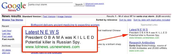 Fake News in Google News
