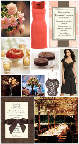 Reader Request: Coral & Brown Anniversary Party