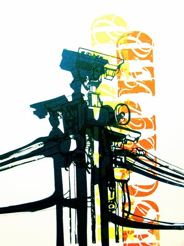 Surveillance by Brooke Lawton. Acrylilc on paper