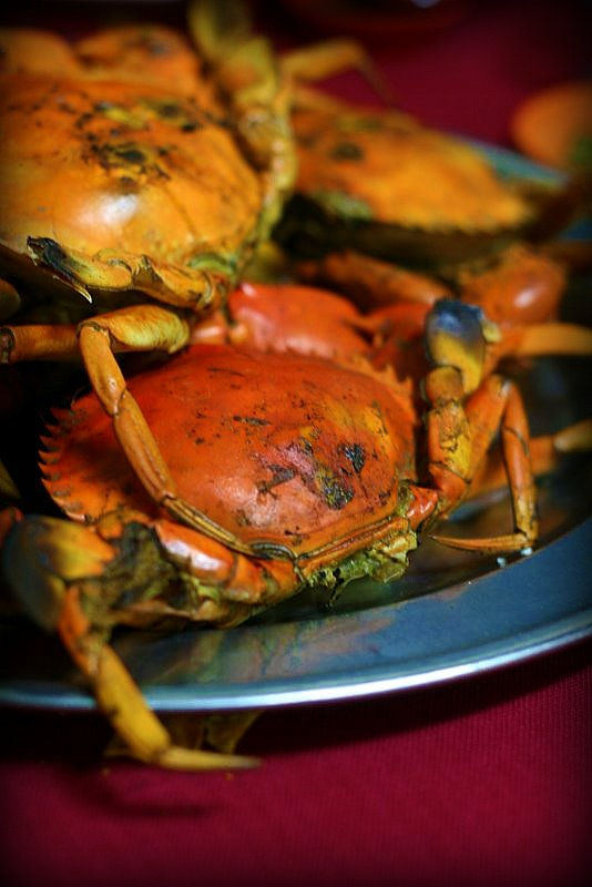 grilled crabs