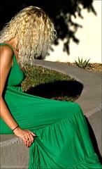 Woman in a green dress (newmexico51) Tags: woman newmexico green hair mujer dress albuquerque nm unm universityofnewmexico