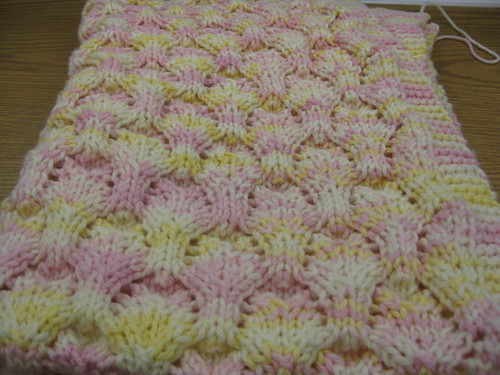 blanket after binding off