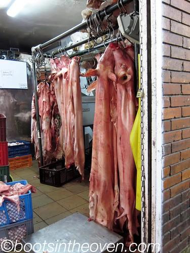Hanging Pig Skins