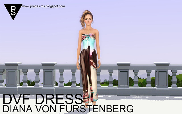 Prada Sims's Diane Von Furstenberg Dress for Sims 3