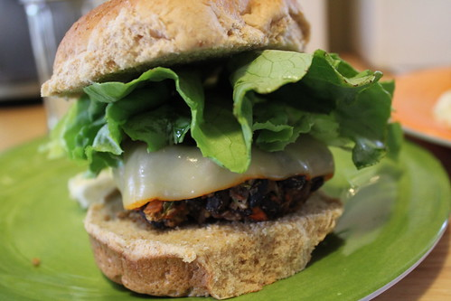 Erin's black bean burger