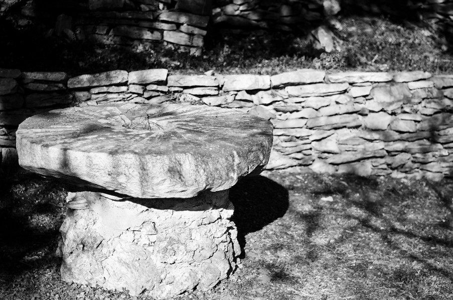 Stone table in Lexington, VA