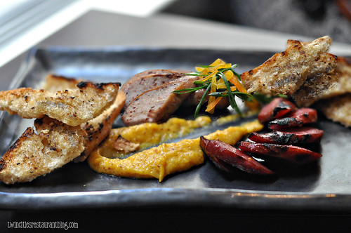 Grilled Sausage Platter at The Six15 Room at Grand Hotel ~ Minneapolis, MN