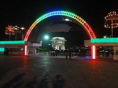 Arch of Triumph from Kaeson Youth Park - Pyongyang (mikestuartwood) Tags: north korea northkorea dprk dpr dprkorea korean northkorean dprkorean asia asian communism communist socialism socialist